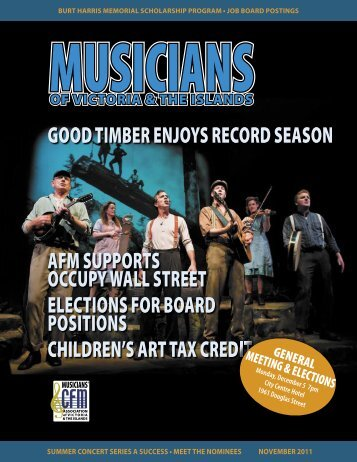 November newsletter - Musicians' Association of Victoria & The Islands