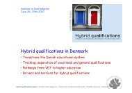 Presentation Denmark Chr. Jørgensen - Hybrid Qualifications