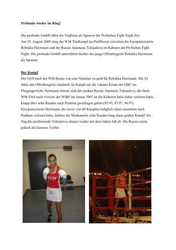 Pro 7 Fight Night 2008 - Profundo GmbH