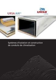 Panneaux URSA AIR, construction de conduits