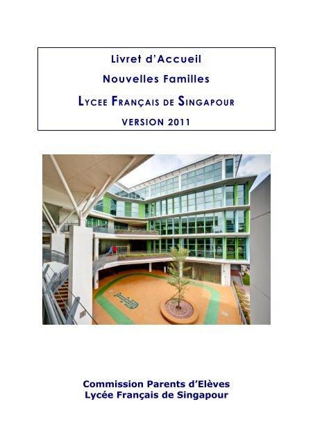 livret d'accueil nouveaux parents au lfs - Lycée français de Singapour