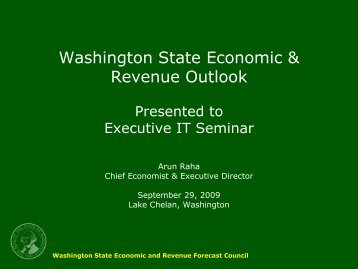 Dr. Arun Raha, Director, State Revenue Forecast Council - IPMA