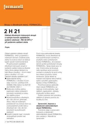 Konstrukční list - 2H21 - Fermacell