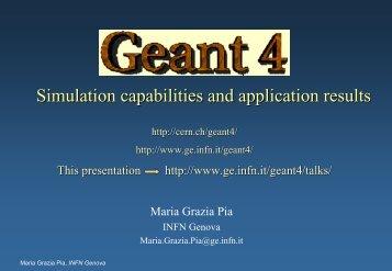 Seminario Geant4 INFN - Cern