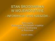 Stan środowiska w województwie - Wojewódzki Inspektorat Ochrony ...
