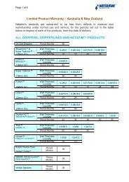 Limited Product Warranty – Australia & New Zealand ALL ... - Netafim