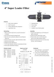100mm super leader filter - Netafim