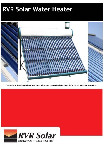 RVR Solar Water Heater - RVR.ie