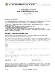 III CONCURSO DE FOTOGRAFÍA DE LA EPS ... - Blogs EPS