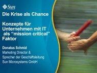 """Die Krise als Chance Konzepte für Unternehmen mit IT als """"mission ..."""