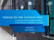 Hadoop for the Common Man