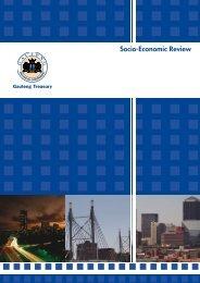 Socio-Economic Review and Outlook 2008 - Gauteng Online