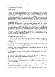 CV Carlos Skliar - UnTER