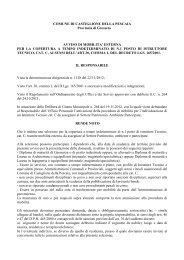avviso mobilità esterna istruttore tecnico - Comune di Pitigliano