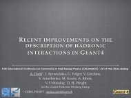 recent improvements on the description of hadronic ... - Geant4 - Cern