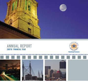 Finance Annual Report 2007-2008 - Gauteng Online