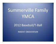 2012 Baseball/T Ball 2012 Baseball/T-Ball - Summerville Family ...
