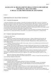 disciplina dei concorsi e delle altre procedure di assunzione