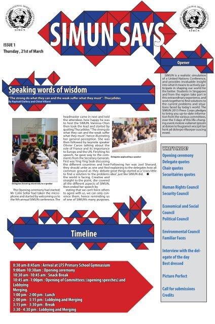 Issue 1 - Lycée français de Singapour