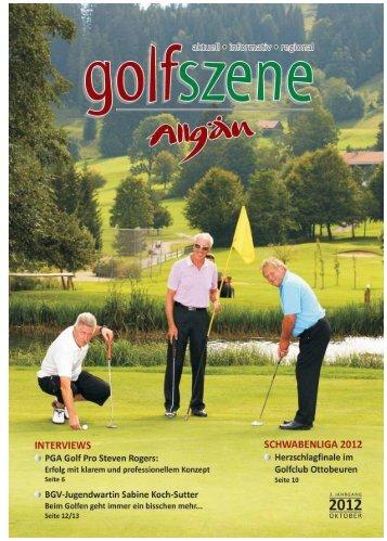 Golf Szene Ausgabe Oktober 2012 - Allgäu Sport Report
