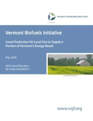 Local Production for Local Use to Supply a Portion of Vermont's ...