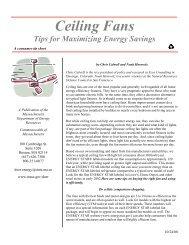 Ceiling Fans Tips for Maximizing Energy Savings - Mass.Gov