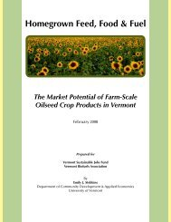 Homegrown Feed, Food & Fuel - Vermont Sustainable Jobs Fund