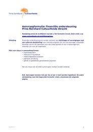 Aanvraagformulier financiële ondersteuning Prins Bernhard ...