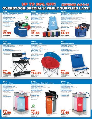 UP TO 60% OFF! - Norwood Promotional Products