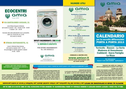 Calendario Amia Verona.Scarica Il Calendario 2013 Amia
