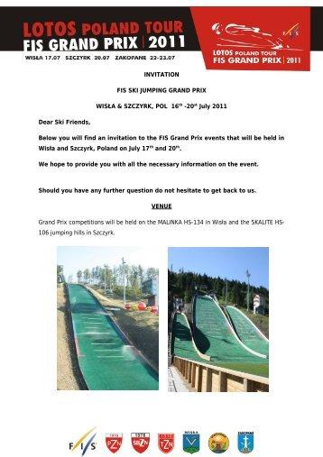 INVITATION FIS SKI JUMPING GRAND PRIX WISŁA ... - Tatra Sport