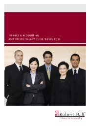 finance & accounting asia pacific salary guide 2010/2011 - Robert Half