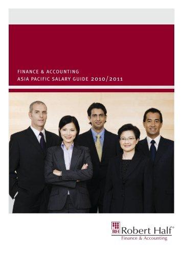 finance & accounting asia pacific salary guide 2010/2011 - Robert Half