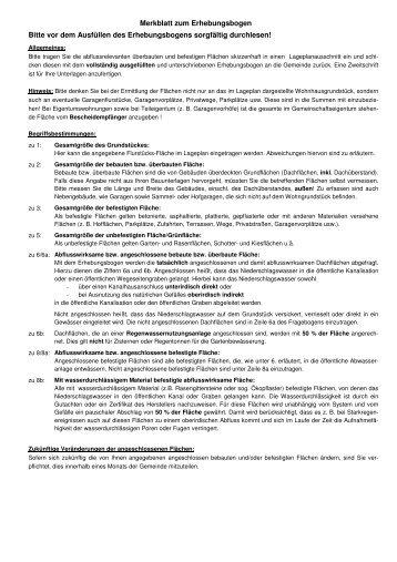 Merkblatt zum Erhebungsbogen Bitte vor dem Ausfüllen des - Roetgen