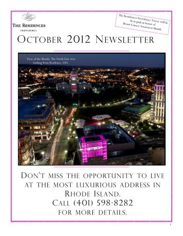October 2012 Newsletter - The Residences - Providence