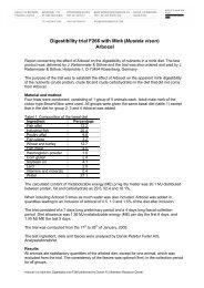 Digestibility trial F266 with Mink - Kopenhagen Fur
