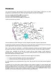 Relazione di CAP HOLDING circa le soluzioni da adottare per lo ...