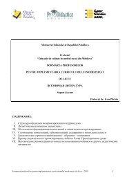 1 Ministerul Educa iei al Republicii Moldova ... - Pro Didactica