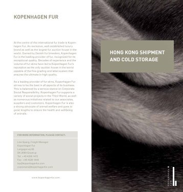 hong kong shipment and cold storage kopenhagen Fur
