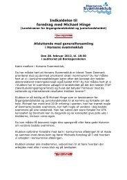 Indkaldelse til foredrag med Michael Hinge - Horsens Svømmeklub