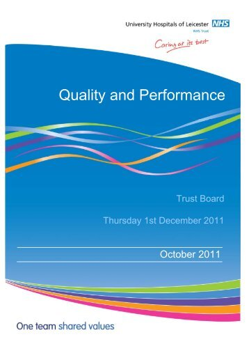 Quality and Performance October 2011 - Library - University ...