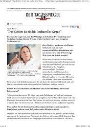 Harald Welzer: Das gehirn ist ein bio-kulturelles organ - Wissen ...