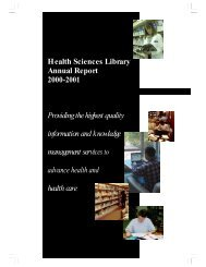 2000-2001 Full Report - Health Sciences Library - The University of ...