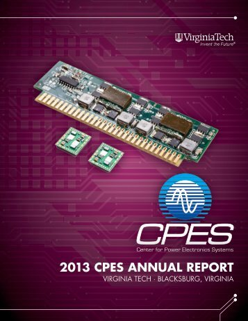 2013 CPES AnnuAl REPoRt - Virginia Tech