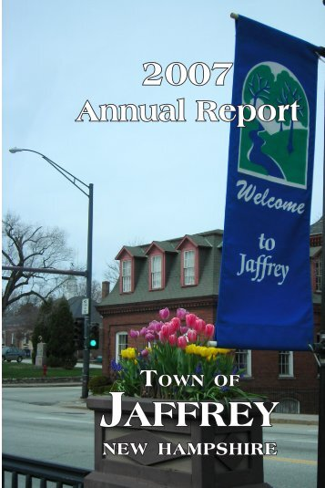 Annual Report 2007 - Town of Jaffrey