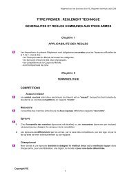 reglement technique generalites et regles communes aux trois armes