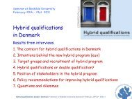 Presentation Denmark - Hybrid Qualifications