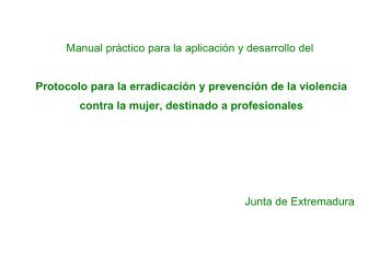 Manual práctico para la aplicación y desarrollo del Protocolo para la ...