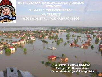 Informacja dotycząca działań ratowniczych podczas powodzi w maju