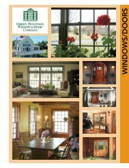 WINDOWS/DOORS - Vermont Wood Products Marketing Council